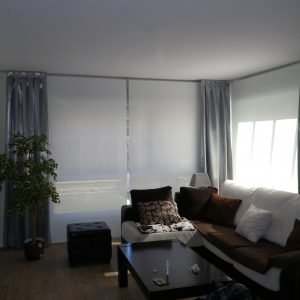 Cortinas tableadas y Estores